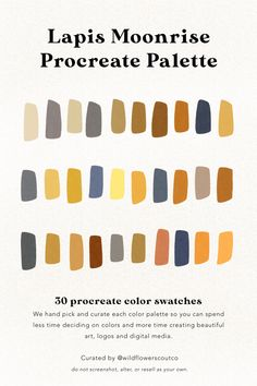 — Wildflower Scout Co. Flat Color Palette, Blue Palette, Colour Pallette, Colour Schemes, Earthy Color Palette, Color Combinations, Colour Board, Color Stories, Color Swatches