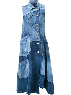 Shop Mihara Yasuhiro panelled denim dress in Restir from the world's best independent boutiques at farfetch.com. Shop 300 boutiques at one address.