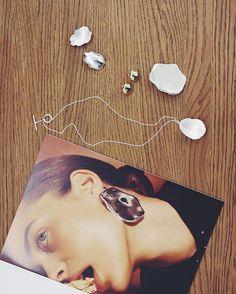 Cool smykker i showroomet hos det svenske smykkemærke @allbluesofficial - her er det deres Ruined Omelette kollektion  #ELLEiParis #modeuge #allblues  via ELLE DENMARK MAGAZINE OFFICIAL INSTAGRAM - Fashion Campaigns  Haute Couture  Advertising  Editorial Photography  Magazine Cover Designs  Supermodels  Runway Models