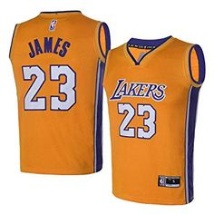 OuterStuff Youth Los Angeles Lakers  23 LeBron James Kids Gold Jersey (Youth  M) 4cf841b64