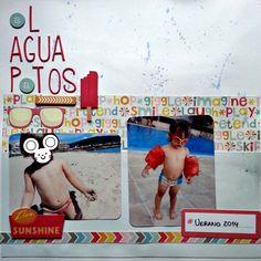 Washitapera: Layout Al agua patos. #scrapbook #layout