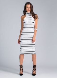 You've *striped* it rich, girl! No, seriously, this chic and versatile dress will go a long way.