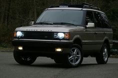 Range Rover P 38 With Xenon Headlamps & HID Foglamps On