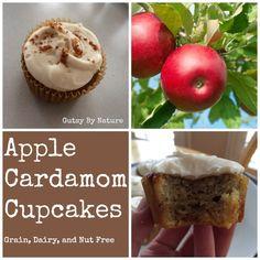 Apple Cardamom Cupcakes (Grain Free, Dairy Free, Nut Free)