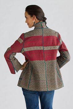 Soho Bamboo Short Jacket by Mieko Mintz: Cotton Jacket available at www.artfulhome.com