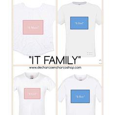 Familia a la moda... Y a juego!  Disponibles en www.decharcoencharcoshop.com. ENVIOS GRATIS con el codigo EXTRA (+de 35€) WORLWIDE SHIPPING #itfamily #itmum #itboy #itgirl #itdad #estilo #style #bloggerstyle #camisetas #tees #camisetasconmensaje #vestirenfamilia #matchy #ajuego #moda #fashion #fashionblogger #enviosgratis #worldwideshipping #tendencias #mamabear #streetstyle #mumandkids