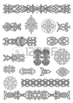Celtic ornaments and patterns set for embellish and ornate photo