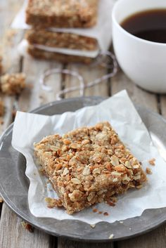 Coconut Oatmeal Bars from completelydelicious.com