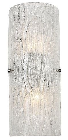 "Master - Brilliance Wall Sconce by Alternating Current; hand-made glass; Width 6.75"", Height 15.5"", Depth 3""- budget option at $89"
