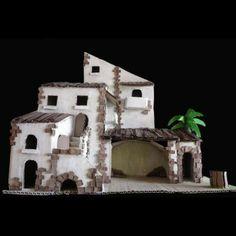 Belén de cartón acabado. Aquí podrás ver como es el resultado del Belén hecho con cartón reciclado. Una idea más para decorar tu casa para la Navidad.