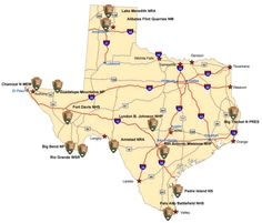 Texas State Parks Map--the kids are almost old enough to start planning camping/hiking trips!!