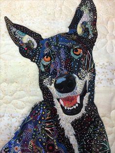 Fabric collage by Rosemary Burris. https://www.pinterest.com/burrisro/collage/