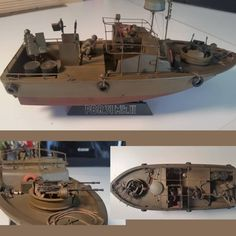 PBR 31 MK II Submitted By John Bonson 1:35 Scale Tamiya From: Pinnacle Scale Models #udk #usinadoskits #boat #barco #guerra #war #soldados #armas #guns #soldiers #miniature #miniatur #maqueta #maquette #modelismo #modelism #hobby #instahobby