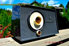 CHARCOAL GREY Mid Century Retro Vintage 1960 Philco Model T-101A AM Tube Radio Totally Restored!