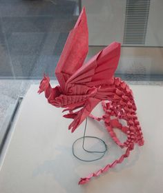 Phoenix. Phoenix origami at the exhibition in Toronto Airport. Created by Chow Hin Chung, folded by Alex Yue