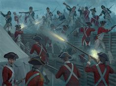 The Storming of Redoubt 10, Yorktown. Click on image to ENLARGE.