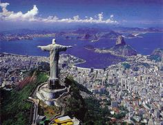 Rio de Janeiro – Located in Brazil. It is the capital city of the State of Rio de Janeiro, the largest city of Brazil. Rio de Janeiro is considered to be on Places Around The World, Oh The Places You'll Go, Travel Around The World, Around The Worlds, Dream Vacations, Vacation Spots, Christ The Redeemer Statue, Jesus Christ, Savior