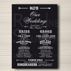 Wedding Program  custom and pintable  digital file by redlinecs, €20.00