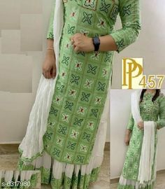 Checkout this latest Dupatta Sets Product Name: *Women Rayon A-line Printed Long Kurti With Palazzos And Dupatta* Kurta Fabric: Rayon Fabric: Rayon Bottomwear Fabric: Rayon Sleeve Length: Three-Quarter Sleeves Pattern: Printed Set Type: Kurta with Dupatta and Bottomwear Stitch Type: Stitched Multipack: Single Sizes:  M (Bust Size: 38 in, Bottom Waist Size: 30 in, Bottom Length Size: 39 in)  L (Bust Size: 40 in, Bottom Waist Size: 32 in, Bottom Length Size: 39 in)  Easy Returns Available In Case Of Any Issue   Catalog Rating: ★3.9 (233)  Catalog Name: Women Rayon A-line Printed Long Kurti With Palazzos And Dupatta CatalogID_1004164 C74-SC1853 Code: 066-6317980-6471