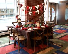 Old Carolina Barbecue Company plaid wedding decor ideas, rustic wedding decor ideas, flannel wedding ideas as seen at the Today's Bride Shows