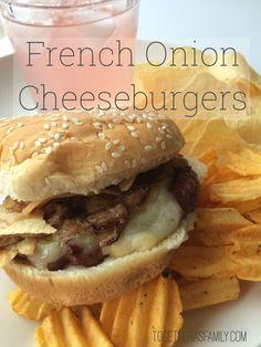 French Onion Cheeseburgers
