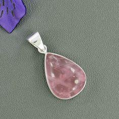 Rose Quartz Gemstone Pendant, Bezel Set Pendant, Solid 925 Sterling Silver Handmade Pendant, Natural Pink Gemstone Pendant Jewelry- P/23/127 by Silvergem2014 on Etsy https://www.etsy.com/listing/243088643/rose-quartz-gemstone-pendant-bezel-set