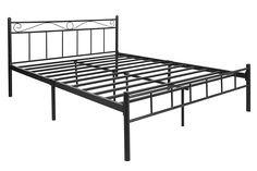 FurnitureKraft London King Size Metal Bed (Glossy Finish, Black): Amazon.in: Home & Kitchen Metal Beds, King Size, Home Kitchens, It Is Finished, London, Amazon, Black, Amazons, Riding Habit