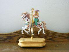 Breckenridge Carousel Horse and Girl Figurine by MemeresAttic