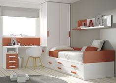¿Qué os parece esta #habitación de @mueblesros? Cabe añadir que los muebles han de ser resistentes en los dormitorios juveniles para que soporten el uso diario, nosotros trabajamos con grosores de 35 mm