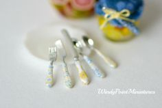 Dollhouse Miniature Luxury Flatware by WindyPointMiniatures