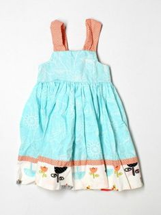 Toddler Girl Jelly The Pug Opal Reverse Knot Summer Dress Size 3T