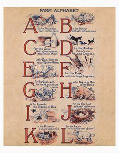 Lilac & Lavender: 1917 Farm Alphabet