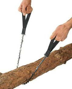 Amazon.com: Hand Saw - Pocket Chainsaw Blade - Hand Chain Saw with More Cutting Teeth. Essential for- Survival Gear, Bug Out Bag, Camping Gear, Survival Kit, Camping Equipment, Hiking Gear, Emergency Kit, Disaster Kit - Handy at Home as Pruning Saw or Tree Saw: Patio, Lawn & Garden