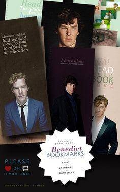 Benedict Cumberbatch AND Tom Hiddleston book marks! Benedict Cumberbatch Sherlock, Sherlock Holmes, Benedict And Martin, John Watson, Geek Out, Baker Street, Martin Freeman, Printable Bookmarks, Printables