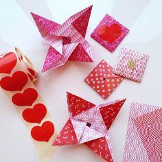 it's a heart heart season: Menko and Tato - folded origami letters