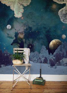 'De la terre a la lune' is a series of customizable wallpapers, inspired by Jules Vernes  // Les Voyages Fantastique è una serie di carte da parati personalizzabili, inspirate a Jules Vernes • Made by  Elli Popp