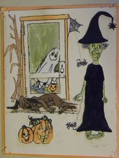 The ghost & pumpkins, Corn stalks come in a set that is retired. I have a few sets let. Smoky Hound dog, Sylvia, & Door  sold separately made by Art Impressions Rubber Stamps, All items can be purchased in my ebay Store Pat's Rubber Stamps & Scrapbooks or call me 423-357-4334and place an order, or come by 1327 Glenmar Ave. Mt Carmel, TN 37645, Pat's Rubber Stamps & Scrapbook supplies 423-357-4334. We take PayPal & We take phone orders. You get free shipping with the phone orders.