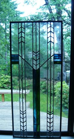 Prairie Style Stained Glass I on Etsy, $475.00