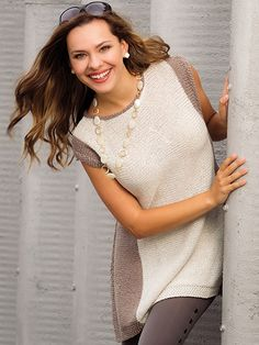 This A-line tank features mod styling with vertical color blocking that makes it flattering and fashionable on anyone. Shenandoah Tank Knit Pattern