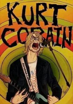 Find images and videos about rock, nirvana and kurt cobain on We Heart It - the app to get lost in what you love. Kurt Cobain Art, Nirvana Kurt Cobain, Rock And Roll, Rock Bands, Nirvana Art, Nirvana Logo, Arte Punk, Rock Band Posters, Mode Rock