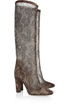 Lace Boots by Valentino #Boots #Lace #Valentino