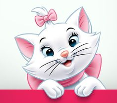 Marie Aristocats Disney Love, Disney Art, Disney Pixar, Gatos Disney, Baby Animals, Cute Animals, Marie Cat, Gata Marie, Creative Pictures