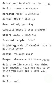 Every episode of Merlin: