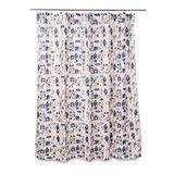Village Shower Curtain with Rings by Citta Design   Citta Design Australia $29
