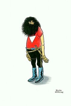 Alan Moore as Tom Strong by Dylan Horrocks.
