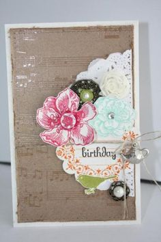 Artisan Design Team - Everything Eleanor Birthday card