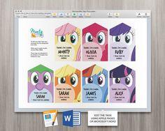 Mi pequeño Pony Lollie bolsa etiquetas botín por MontyandMeShop