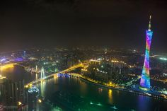 Canton Tower by MC Thanakorn K. Canton Tower, Overseas Chinese, Visit China, Guangzhou, All Over The World, New York Skyline, Explore, Travel, Viajes