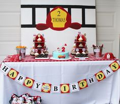 A Two-Alarm Fireman Birthday Party   Spaceships and Laser Beams