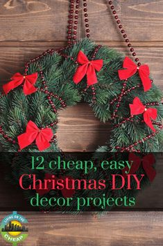 Ho-Ho-Homemade Is The Key To Cheap, But Pretty, Holiday Decorations. I Mean, Have You Seenthe Prices On Real Christmas Wreaths? Here Are Some Ideas We Gleaned From Various Sources To Help You Put Some Sparkle Into Your Holidays Without Busting The Budget Christmas Neighbor, Frugal Christmas, Christmas Hacks, Cheap Christmas, Christmas Activities, Christmas Projects, Simple Christmas, Merry Christmas, Christmas Breaks